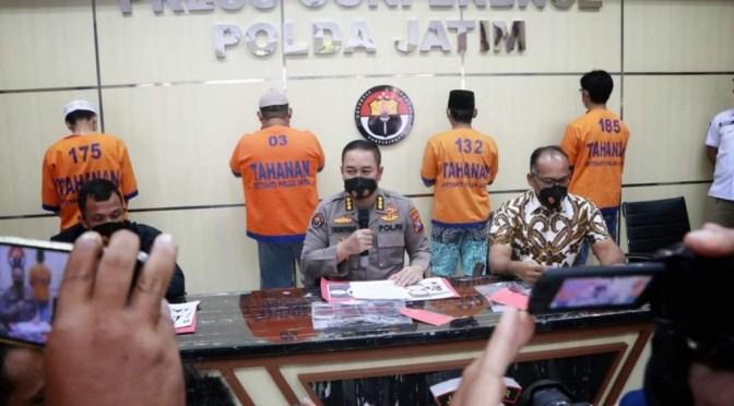 Ancam Mahfud MD, Ditreskrimsus Polda Jatim Bekuk 4 Orang