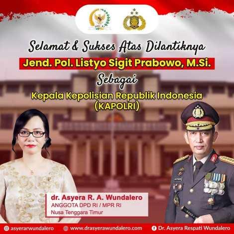 Proficiat Jenderal Pol. Listyo Sigit Prabowo -- dr. Asyera Wundalero