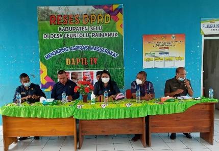 Jalin Asmara—Reses Empat Anggota DPRD Dapil IV Belu di Kecamatan Raimanuk