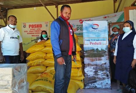10 Ton Beras, dari Coop TLM Indonesia bagi Korban Banjir Bandang Malaka