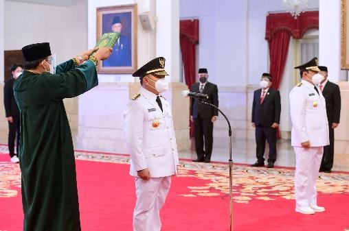 Presiden Lantik Gubernur dan Wagub Kalimantan Tengah Masa 2021—2024