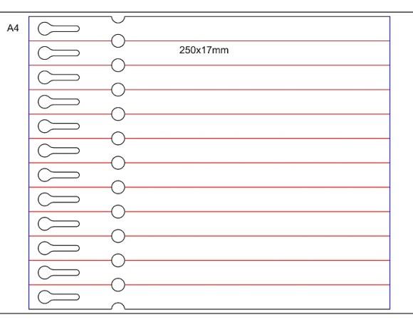 Etykieta pętelkowa Laser – 250x17x10-15, bez zrywki, biała