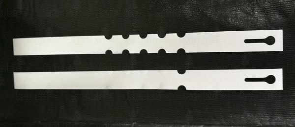 Etykieta pętelkowa Allfolin – 400x20x40-180, ze zrywką, biała -REGULOWANA, NA ROŚLINY O OBWODZIE OD 40 DO 180mm