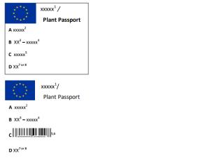 Wzory unijnych paszportów roślin. Fot.: piorin.gov.pl.