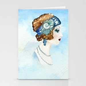 Art Deco Portrait Greeting Card