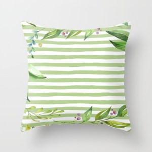 floral-leafy-greenery-watercolor-art-pillows