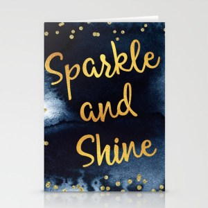 sparkle-and-shine-gold-and-black-ink-typography-art-cards