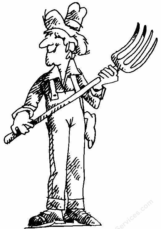 Farmer Bob Garden Clipart