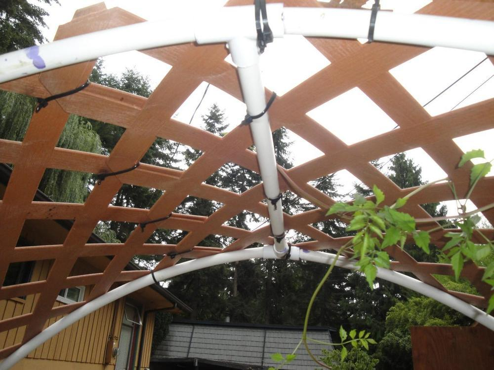 Pvc Amp Vinyl Lattice Garden Arch Trellis Garden Org
