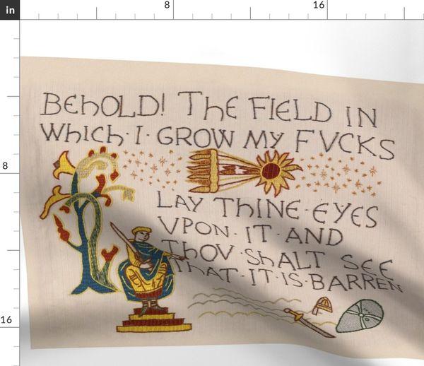 Field Of Fvcks Original Scale Spoonflower