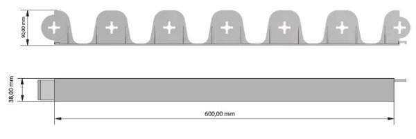 Vejos borteliai 3 metrai + 12 inkarų — 03 palisgarden 15