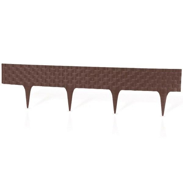 Vejos pakraščių tvorelė – komplekte 3,2 metrai - Rudos sp. — ruda