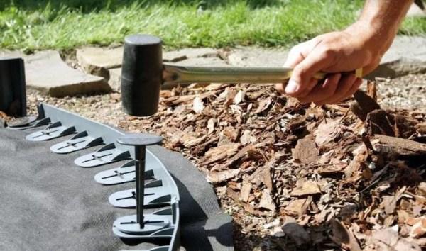 Vejos borteliai 3 metrai + 12 inkarų — vejos pakrasciu bortai gelynui