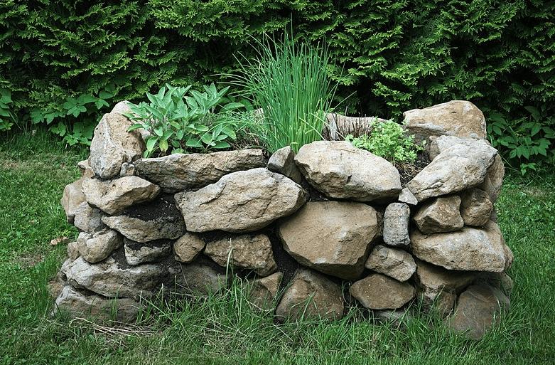Stone Raised Garden Bed