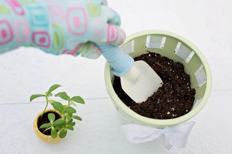 Small garden pot