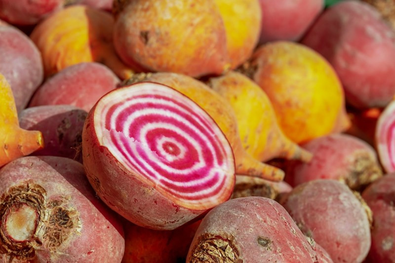 golden and striped beets