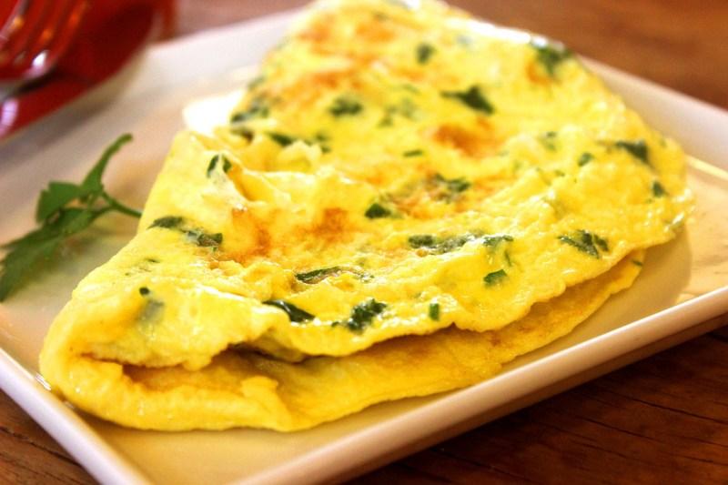 broccoli stalks in omelettes
