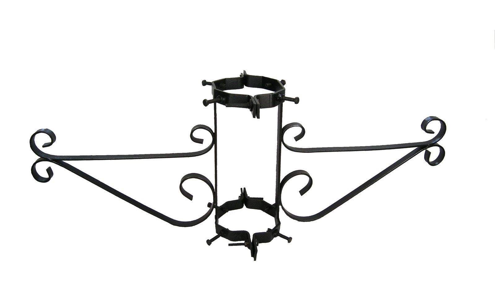Lamppost Bracket For Double Hanging Baskets For Poles 5