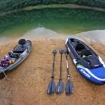 静かな湖畔でカヤックキャンプ 4