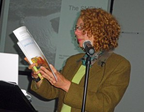 Meg reads from her book