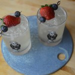 strawberry and blueberry collins