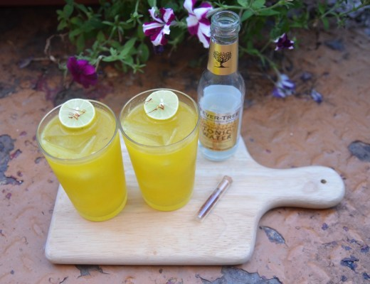 saffron gin and tonic