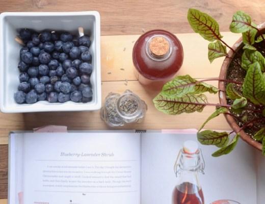 blueberry lavender shrub