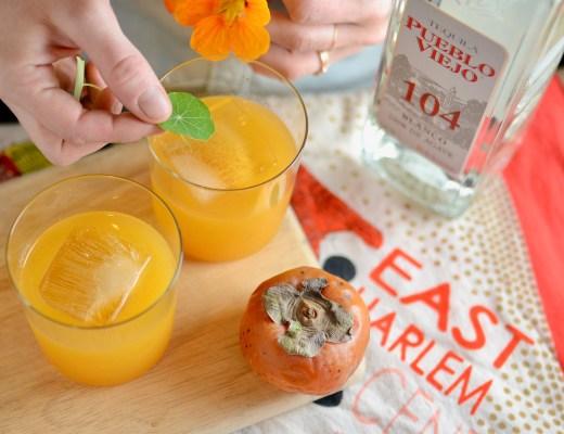 persimmon lemon tequila pueblo viejo cocktail