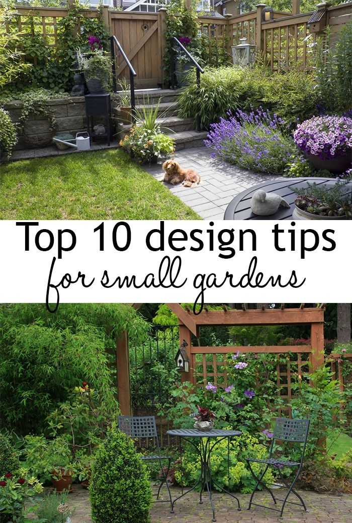 17 Best Ideas About Small Gardens On Pinterest | Small Garden with Garden Design Tips For Small Gardens
