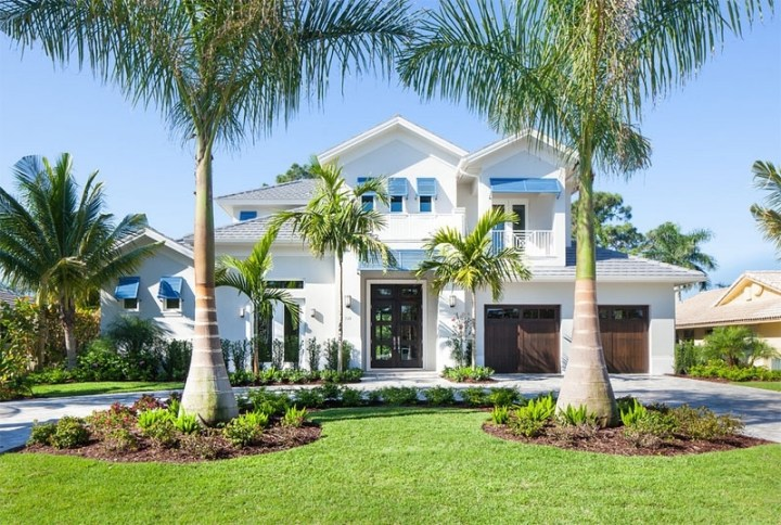 23 Landscape Ideas To Have A Good Appeal For Front Yard | Home pertaining to Landscaping Ideas Front Yard Palm Trees