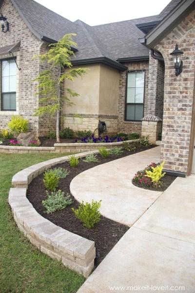25+ Best Ideas About Front Walkway Landscaping On Pinterest intended for Front Sidewalk Landscaping Ideas