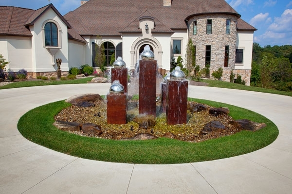 Front Yard Circle - Google Search | Front Yard | Pinterest inside Landscaping Ideas For Front Yard Circle Drive