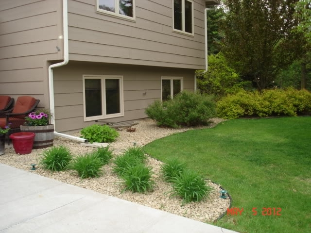 Tri Level Home Landscaping Sloped Lawn