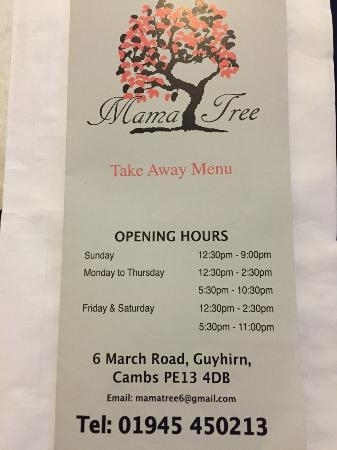 Mama Tree - Picture Of Oriental Garden, March - Tripadvisor with regard to Oriental Garden Opening Hours