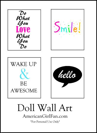 Doll Craft Decorate Your Dolls Room With Wall Art Free