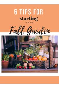 garden tips, fall garden tips, fall garden