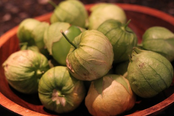 Tomatillos with husk Photo by Gudlyf