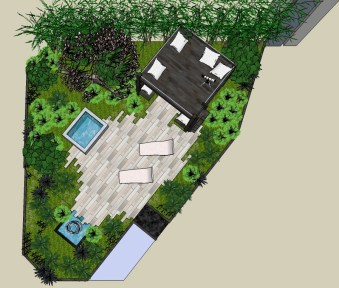 Sublime Garden Design Living Among the Stars plan view