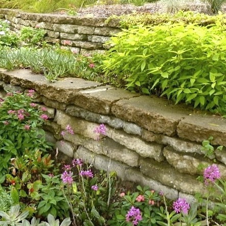 How To Build A Reused Concrete Wall Gardendrum