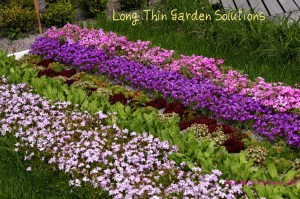 2. long, thin garden solutions