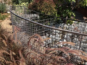 The gabion cage in my front garden