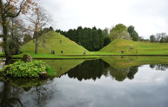 Snail mound and snake mound at The Garden of Cosmic Speculation