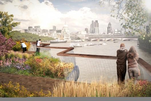 Garden Bridge in London concept design Heatherwick Studio