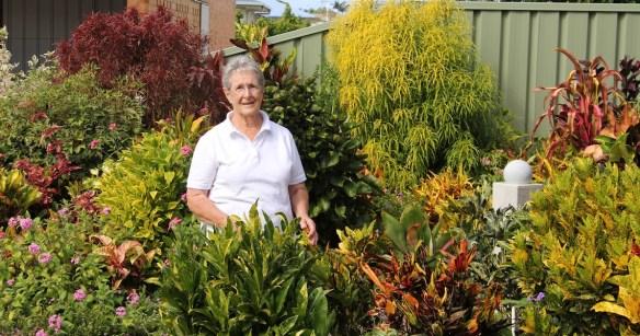 Marge in her garden