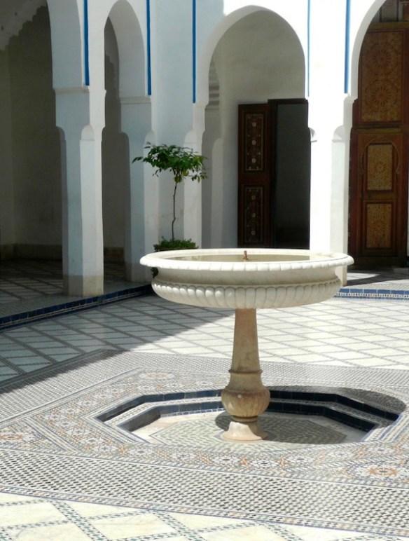 Fountain at the Palais Bahia