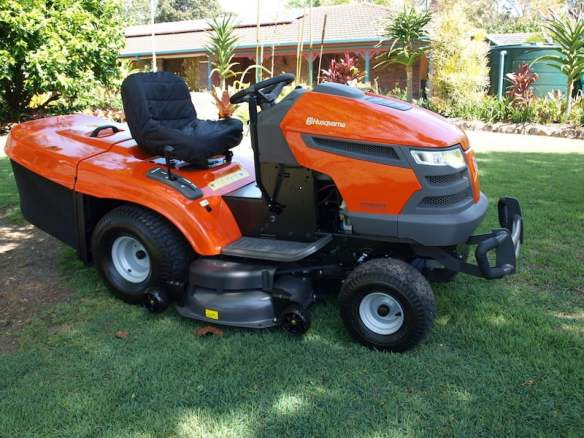 My ride on mower is a Husqvarna 26 hp with a rear grass catcher