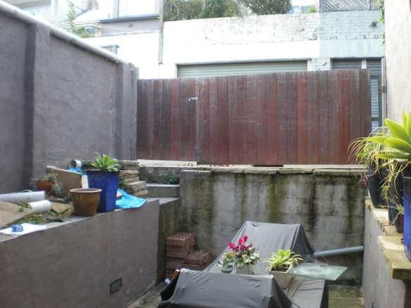 Courtyard before