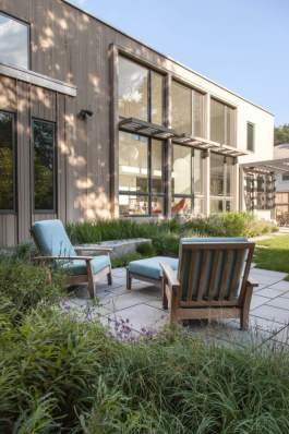 Rear shady courtyard Matthew Cunningham Landscape Design LLC Longwood garden