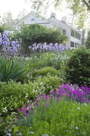 Waves of blues, white and pink. Lee Hill Farm Design Susan Cohan APLD
