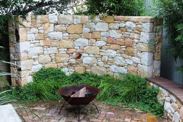 Corner disguised with Donnybrook stone feature wall